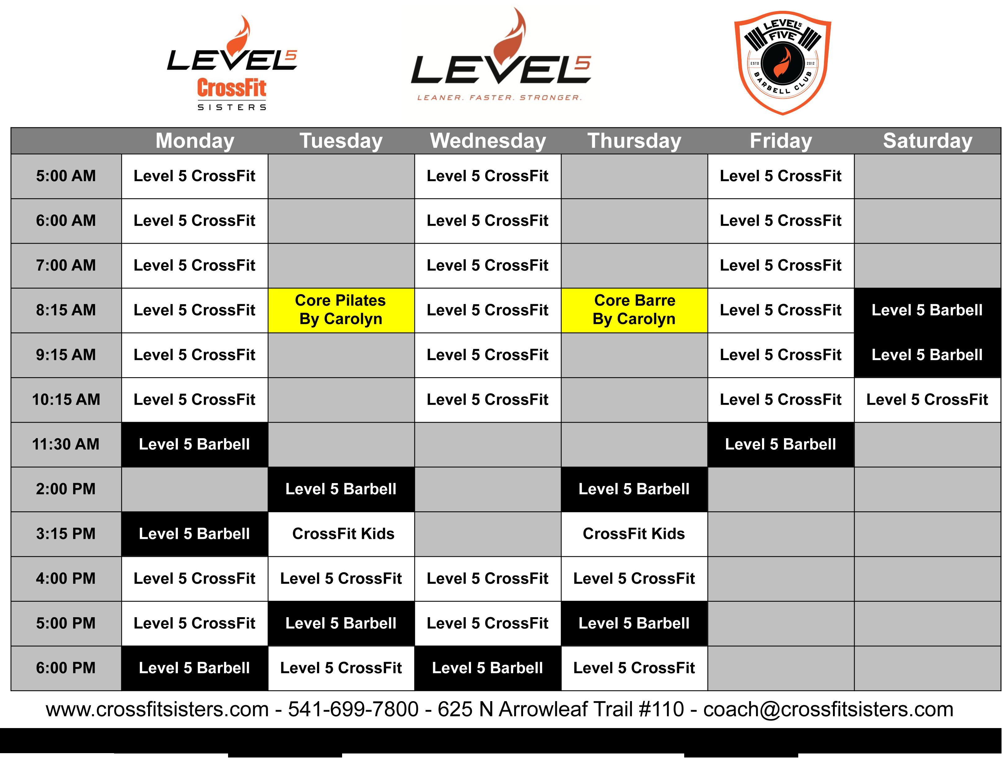 class-schedule-2019